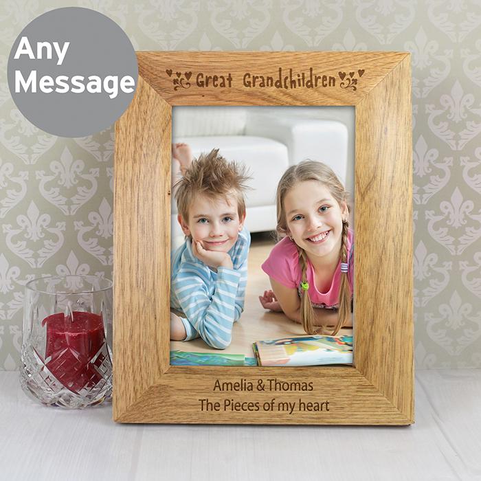 Unique Memories Product Detail 6x4 Great Grandchildren Wooden