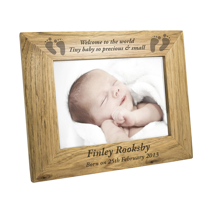 Unique Memories | Product Detail | Landscape Baby Foot 6x4 Wooden Frame