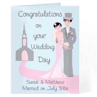 Fabulous Wedding Couple Card