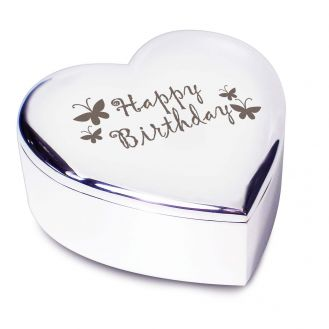 Happy Birthday Butterfly Heart Trinket