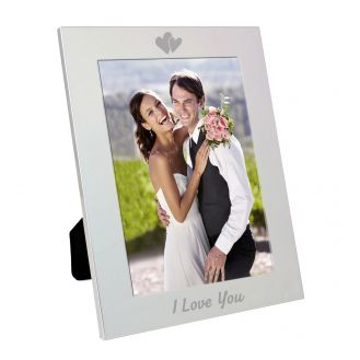 Silver 5x7 I Love You Frame