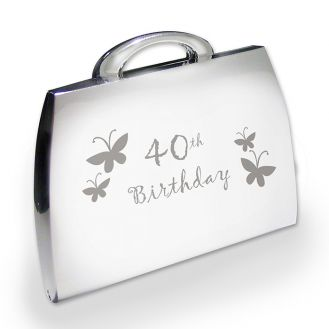 40th Butterfly Handbag Compact
