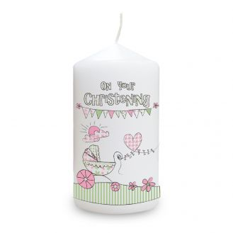 Whimsical Pram Christening Candle