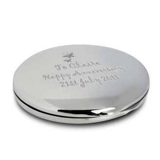 Butterfly Round Compact Mirror