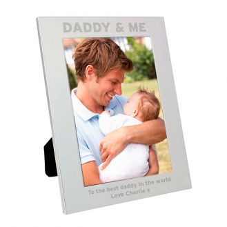 Silver 5x7 Daddy & Me Frame