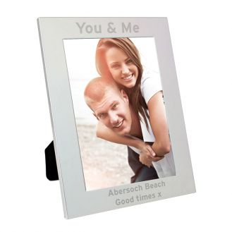 Silver 5x7 Bold Style Frame