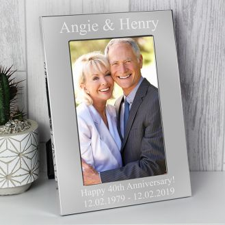 Personalised 4x6 Silver Photo Frame