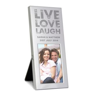 Small Silver Live Love Laugh 2x3 Frame