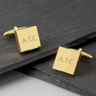 Gold Plated Square Cufflink