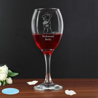 Me To You Wedding Female Wine Glass