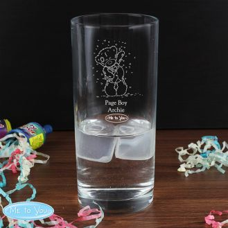 Me To You Engraved Wedding Boy Hi Ball Glass