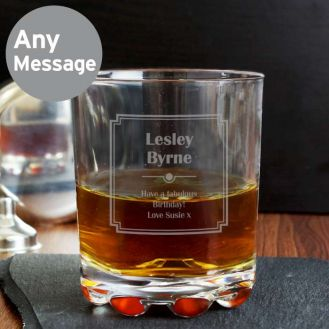 Art Deco Whisky Glass