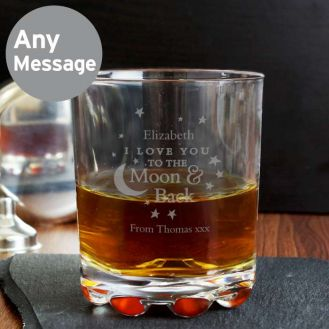 To the Moon and Back... Whisky Glass