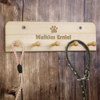 Paw Print Dog Lead Holder