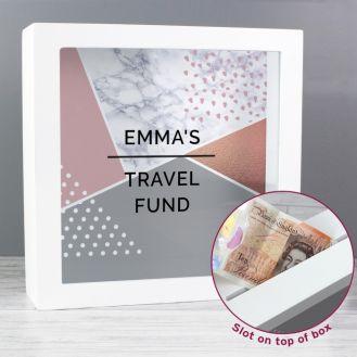 Personalised Geometric Fund and Keepsake Box