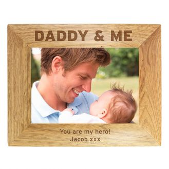 Daddy & Me 6x4 Wooden Frame
