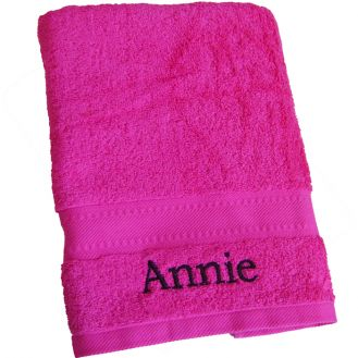 Bright Pink Bath Towel