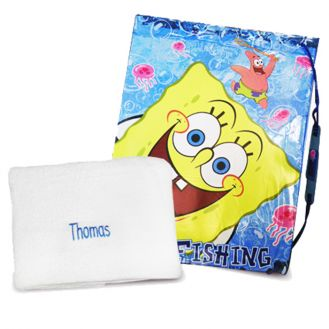 SpongeBob Swim Bag and Personalised Towel