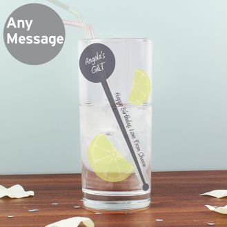 Lime & Stirrer Hi-Ball Glass