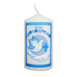 Confirmation Candle Blue