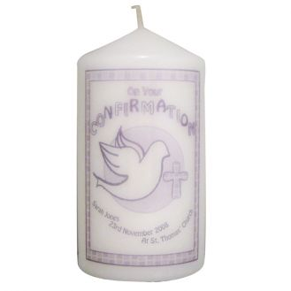 Confirmation Candle Grey