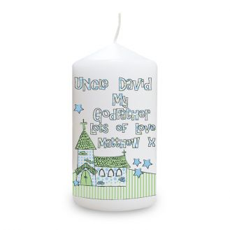 Whimsical Church Godfather Candle