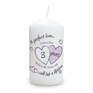 A Perfect Love Diamond Anniversary Candle