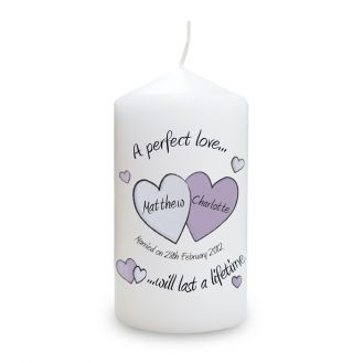 A Perfect Love Wedding Candle