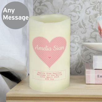 Stitch & Dot Girls LED Candle