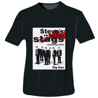 Reservoir Stags T-Shirt - Black - Extra Large
