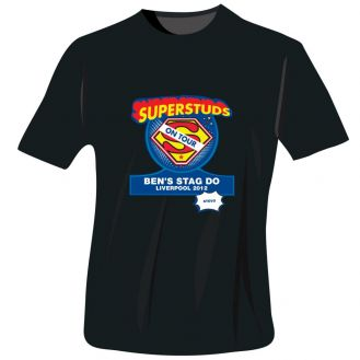 Superstuds Stag Do T-Shirt - Black - Medium