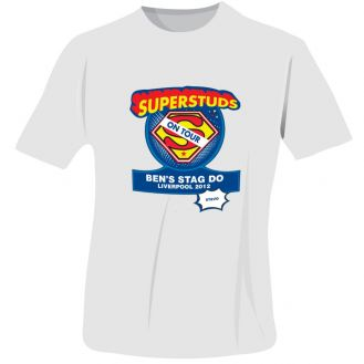 Superstuds Stag Do T-Shirt - White - Large
