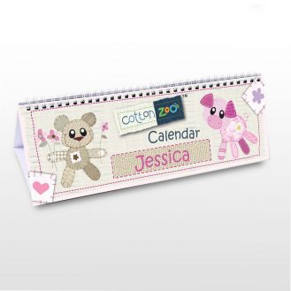 Cotton Zoo Girls Desk Calendar