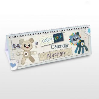 Cotton Zoo Boys Desk Calendar