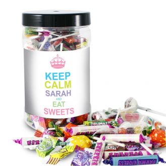 Keep Calm Large Sweet Candy Colours