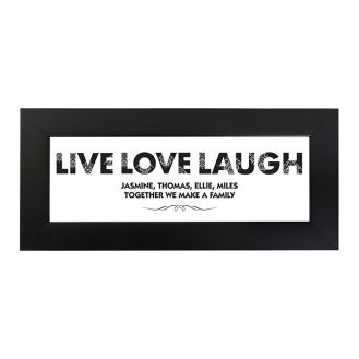 Live Love Laugh Name Frame