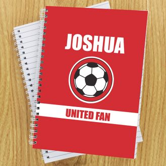 Red Football Fan Notebook