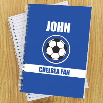 Dark Blue Football Fan Notebook