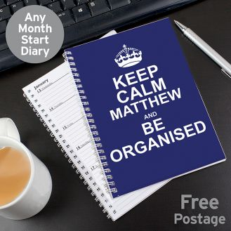 Keep Calm Blue A5 Diary