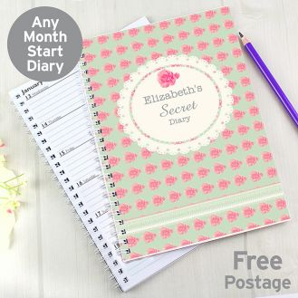 Vintage Rose A5 Diary