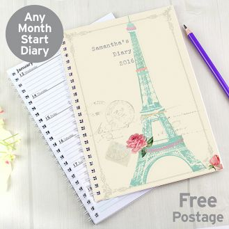 Eiffel Tower A5 Diary