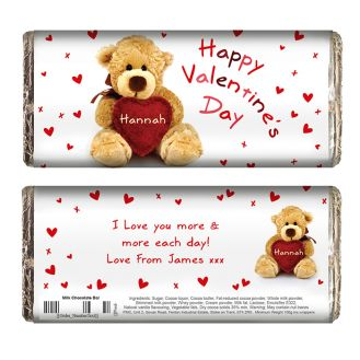 Teddy Heart Chocolate Bar