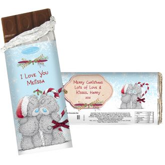 Me To You Couple Christmas Chocolate Bar