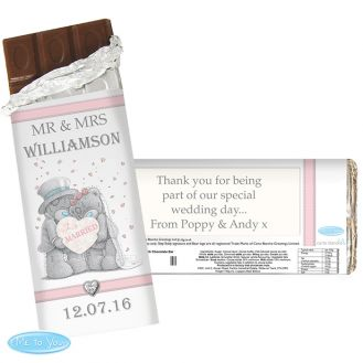 Me To You Wedding Couple Chocolate Bar