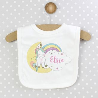 Personalised Baby Unicorn Bib
