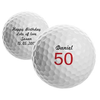 Small Numbers Birthday Golf Ball