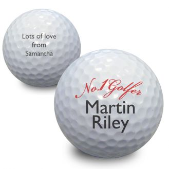 No1 Golfer Golf Ball