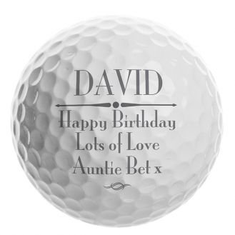 Message Golf Ball