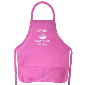 Queen of the Kitchen Pink Apron