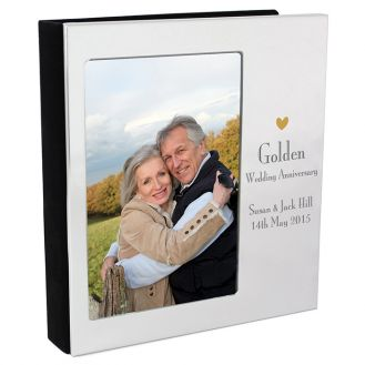 Decorative Golden Anniversary Photo Album 6x4
